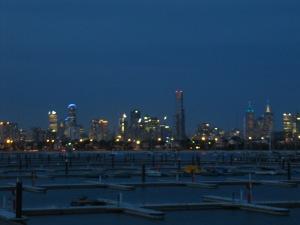 vue de Melbourne depuis St Kilda