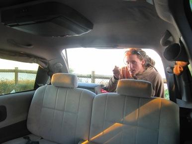 PRemier repas du soir dans le van