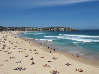 Bondi beach : les mecs body buldés et les nanas qui friment!