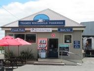 Le MEILLEUR fish'n ships que j'ai mangé!!! Poisson frais, pas gras acheté par un petit fish shop sur un port de Tames.