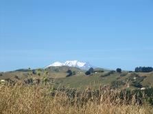 Le mont Tanaraki près du lac Taupo et ses neiges éternelles!