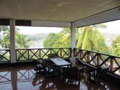 vue de la terrasse sur le Mékong