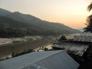 Et coucher de soleil sur le Mékong