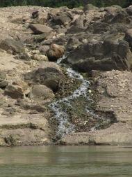 Petit ruisseau qui se jette dans le fleuve