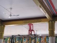 Décoration du temple en cours
