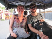 avec nos amis rencontrés sur la route: Christelle et Thomas