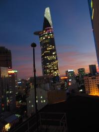 Vue depuis le toit de l'hôtel